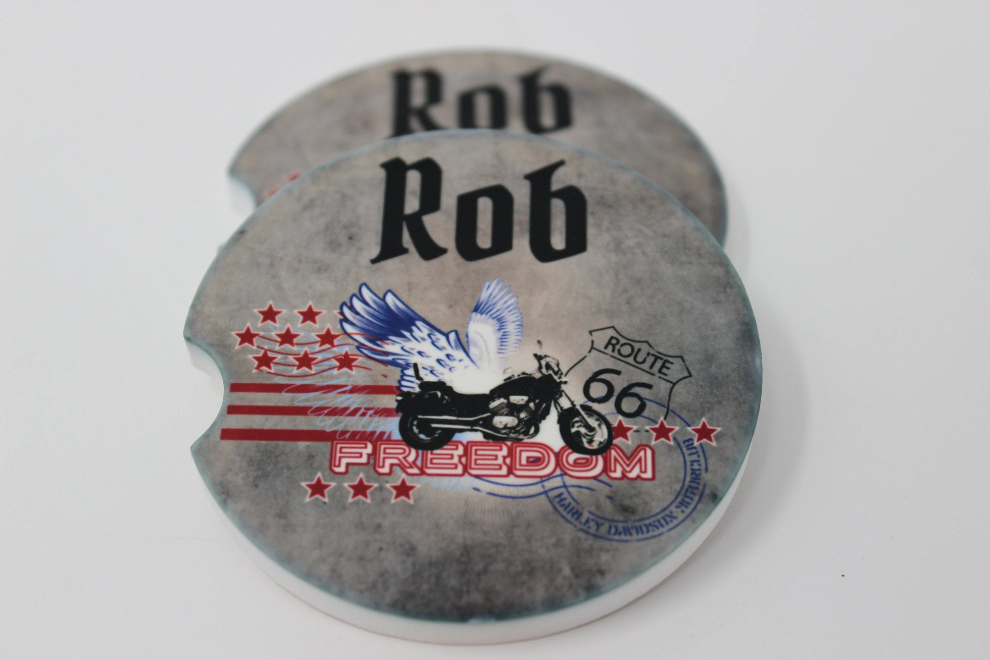 Personalized Car Coasters | Custom Car Accessories | Motorcycle | Set of 2