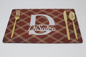 Placemats | Custom Placemats | Personalized Dining and Serving | Brown Argyle | This and That Solutions | Personalized Gifts | Custom Home Décor