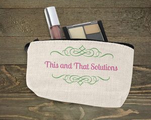 Cosmetic Bags | Personalized Cosmetic Bags | Custom Cosmetic Bags | Company Logo | This and That Solutions | Personalized Gifts | Custom Home Décor