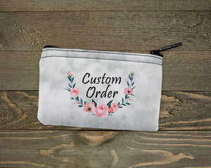 Pouches & Coin Purses | Personalized Coin Purse | Custom Bags | Custom Order | This and That Solutions | Personalized Gifts | Custom Home Décor