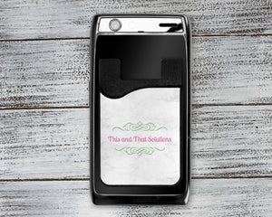 Phone Cases | Personalized Cell Phone Caddy | Monogram Phone Wallet | Company Logo | This and That Solutions | Personalized Gifts | Custom Home Décor