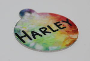 Pet ID Tags | Personalized Pet Tags | Custom Pet Tags | Pet Accessories | Tie Dye | This and That Solutions | Personalized Gifts | Custom Home Décor
