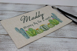 Cosmetic Bags | Personalized Cosmetic Bags | Custom Cosmetic Bags | Pretty Fly for a Cacti | This and That Solutions | Personalized Gifts | Custom Home Décor