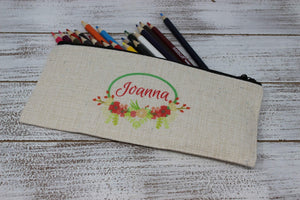 Cosmetic Bags | Personalized Cosmetic Bags | Custom Cosmetic Bags | Floral Ring | This and That Solutions | Personalized Gifts | Custom Home Décor