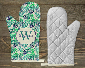 Pot Holders | Personalized Pot Holders | Custom Kitchen Decor | Fern | Blue and Green Fern | This and That Solutions | Personalized Gifts | Custom Home Décor