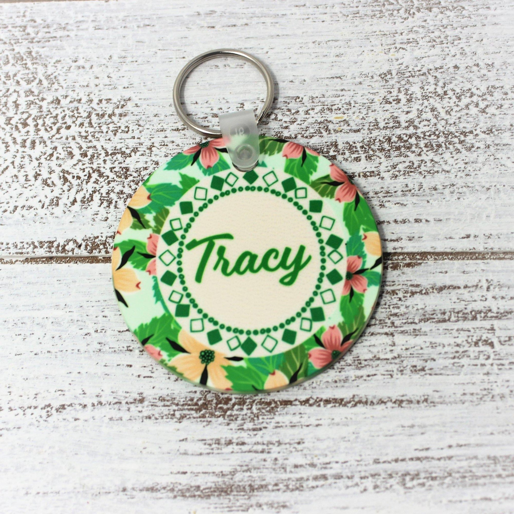 Keychains | Monogrammed Key Chain | Personalized Key Chain | Floral Design | This and That Solutions | Personalized Gifts | Custom Home Décor