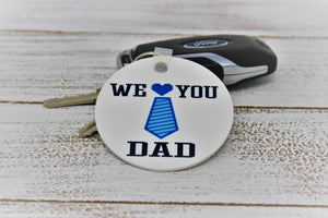 Keychains | Monogrammed Key Chain | Personalized Key Chain | We love you dad | This and That Solutions | Personalized Gifts | Custom Home Décor
