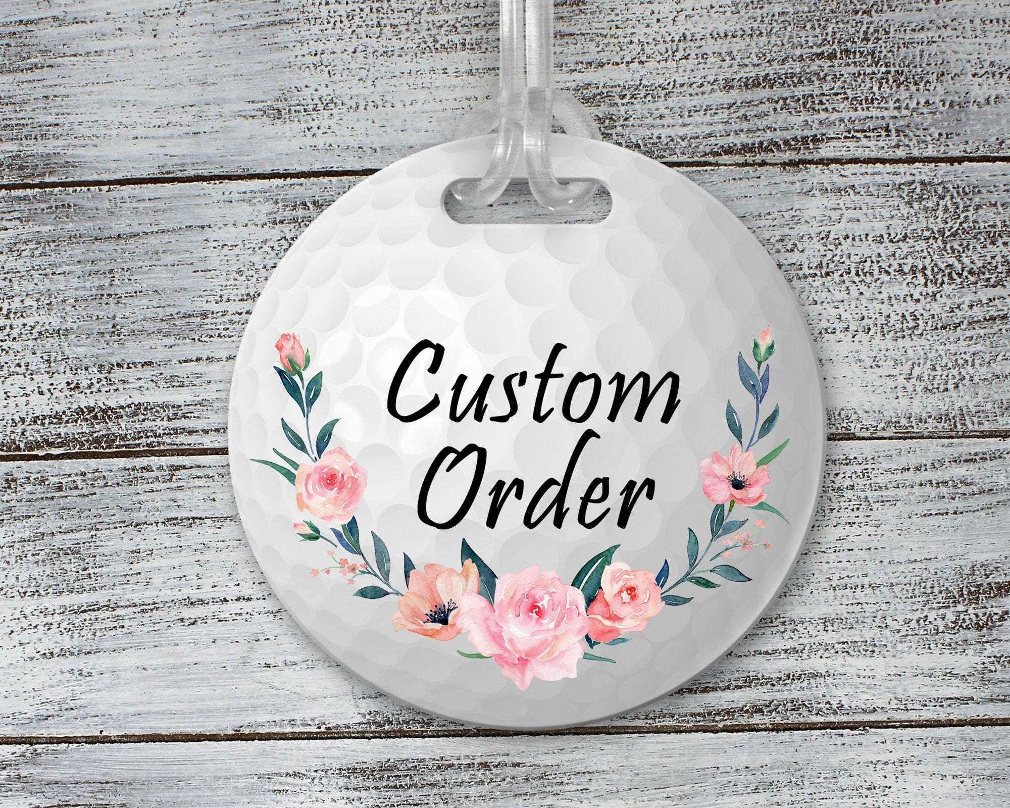 Luggage Tags | Personalized Luggage Tag | Custom Golf Gifts | Golf Tag | Custom Order Golf | This and That Solutions | Personalized Gifts | Custom Home Décor