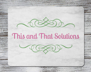Mousepads | Monogrammed Mouse Pad | Personalized Mouse Pad | Company Logo | This and That Solutions | Personalized Gifts | Custom Home Décor
