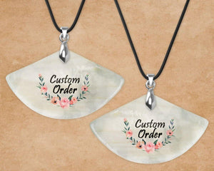 Pendants | Custom Jewelry | Personalized Jewelry | Shell Pendant | Custom Order | This and That Solutions | Personalized Gifts | Custom Home Décor