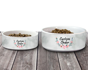 Pet Bowls | Personalized Pet Bowls | Custom Pet Bowls | Pet Accessories | Custom Order | This and That Solutions | Personalized Gifts | Custom Home Décor