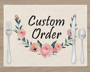 Placemats - Custom Placements | Personalized Dining and Serving | Colorful - This & That Solutions