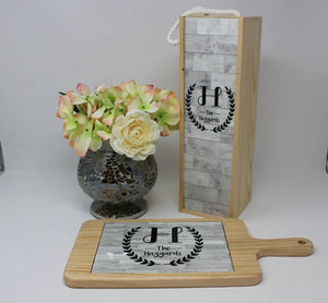 Platters - Personalized Wood Cheeseboard | Custom Wine Accessories | Faux Wood - This & That Solutions