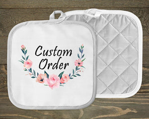 Pot Holders - Personalized Pot Holders | Custom Kitchen Decor | Custom Order - This & That Solutions