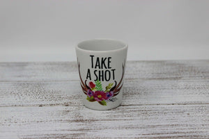 Shot Glasses | Custom Shot Glass | Personalized Shot Glass | Take a Shot | This and That Solutions | Personalized Gifts | Custom Home Décor