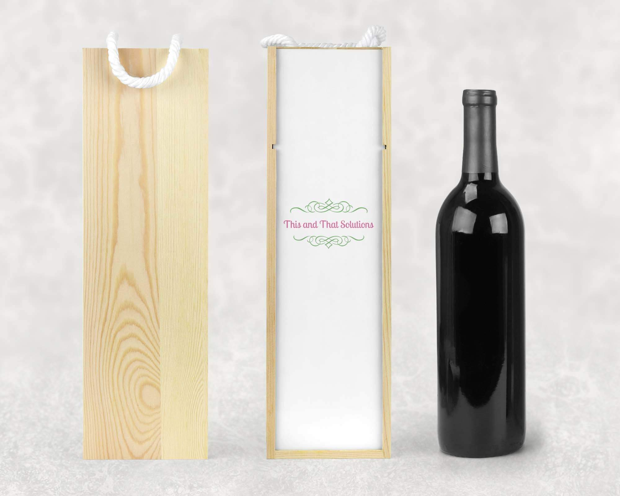 Wine & Beer Storage | Personalized Wine Box | Custom Wine Gifts | Wine Storage | Company Logo | This and That Solutions | Personalized Gifts | Custom Home Décor