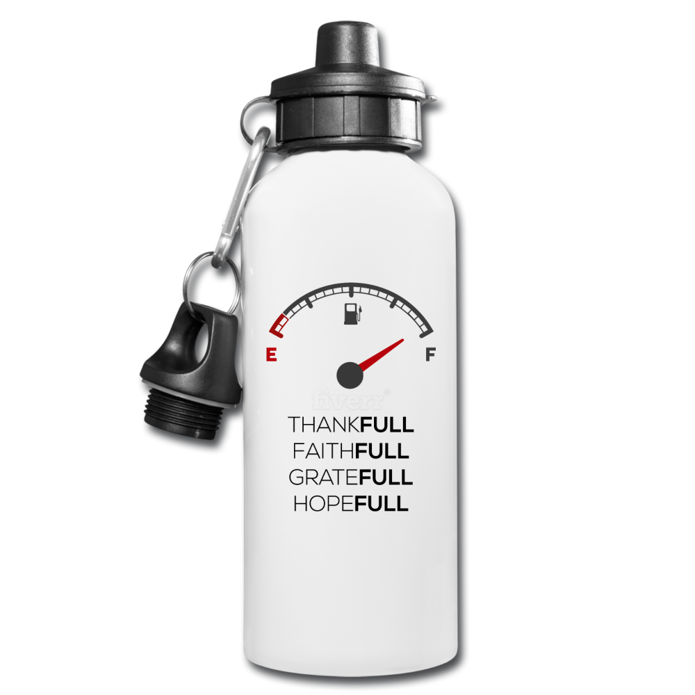 FULL Water Bottle - white