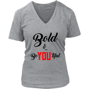 Bold & BeYOUtiful V-Neck Tee