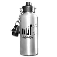 Load image into Gallery viewer, I'M LIT Water Bottle - silver