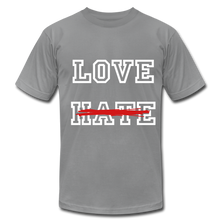 Load image into Gallery viewer, LOVE not HATE Unisex Jersey T-Shirt - slate