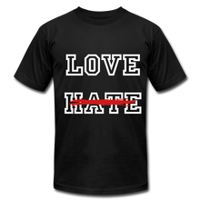 Load image into Gallery viewer, LOVE not HATE Unisex Jersey T-Shirt - black