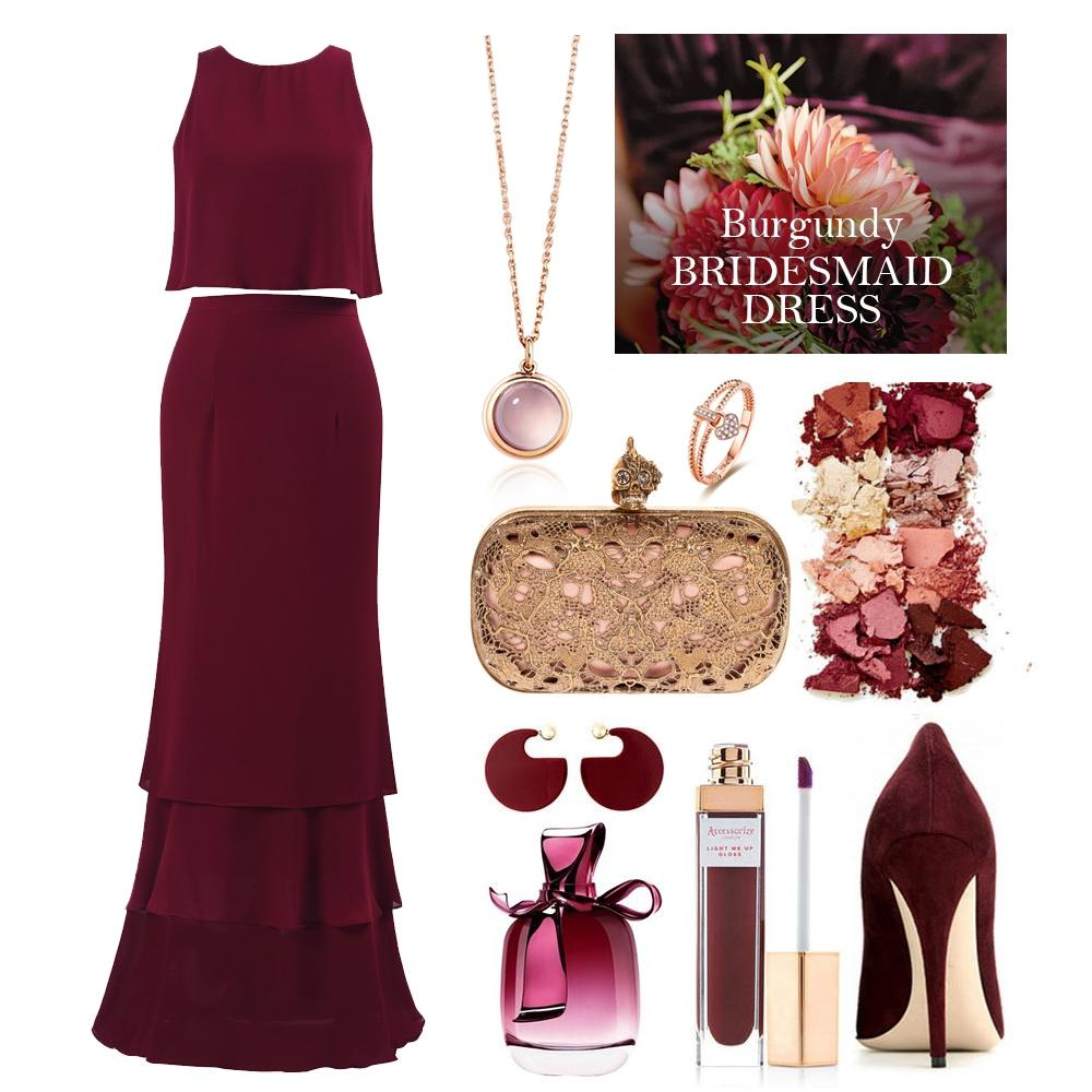 burgundy bridesmaid dress style guide 2