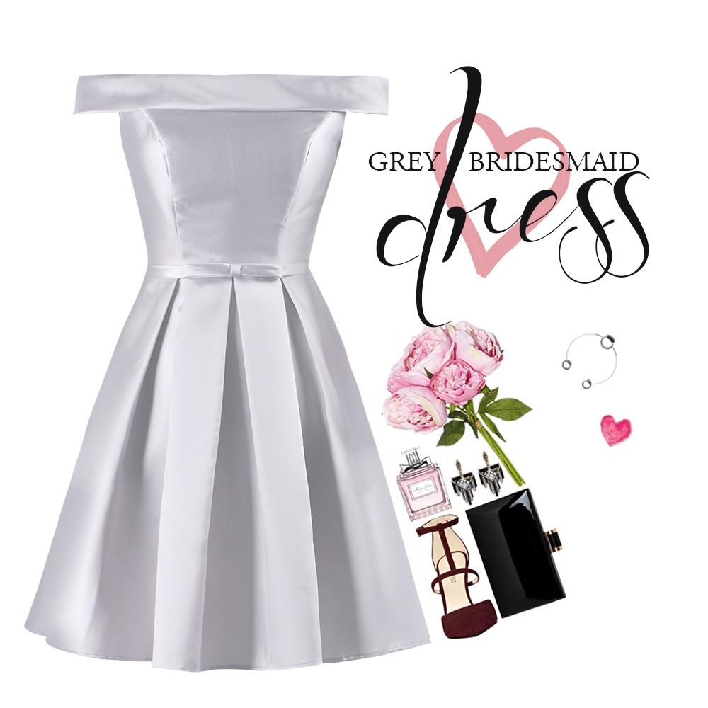 grey bridesmaid dress style guide 1