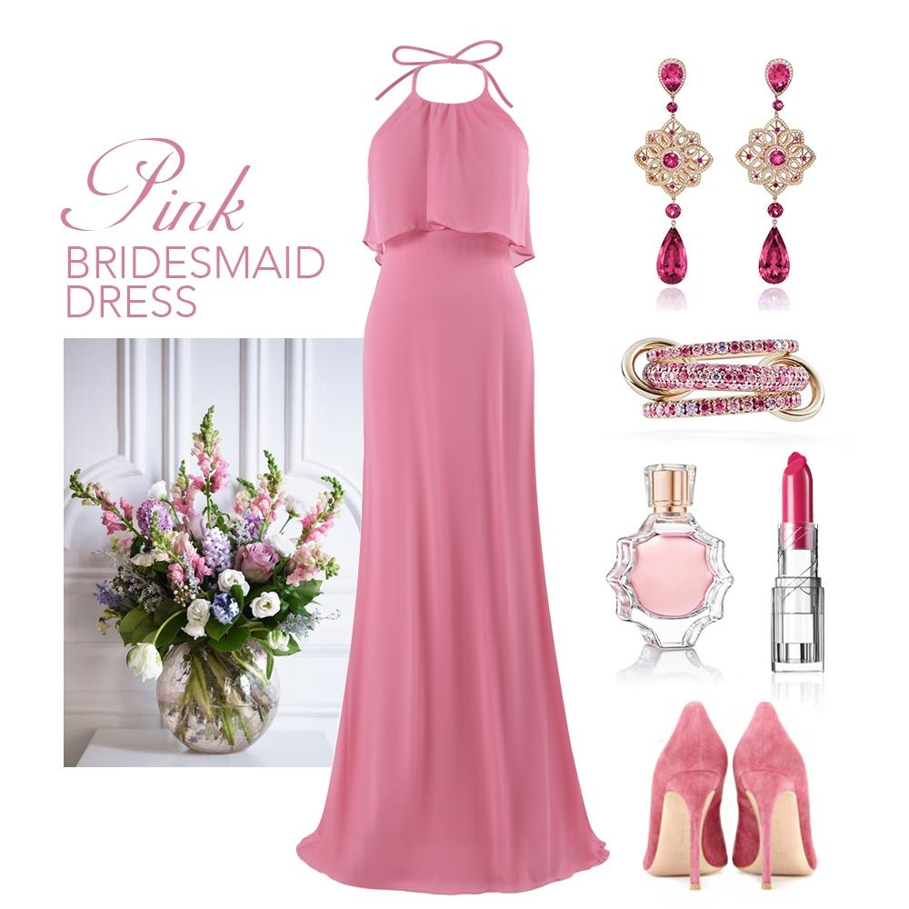 pink bridesmaid dress style guide
