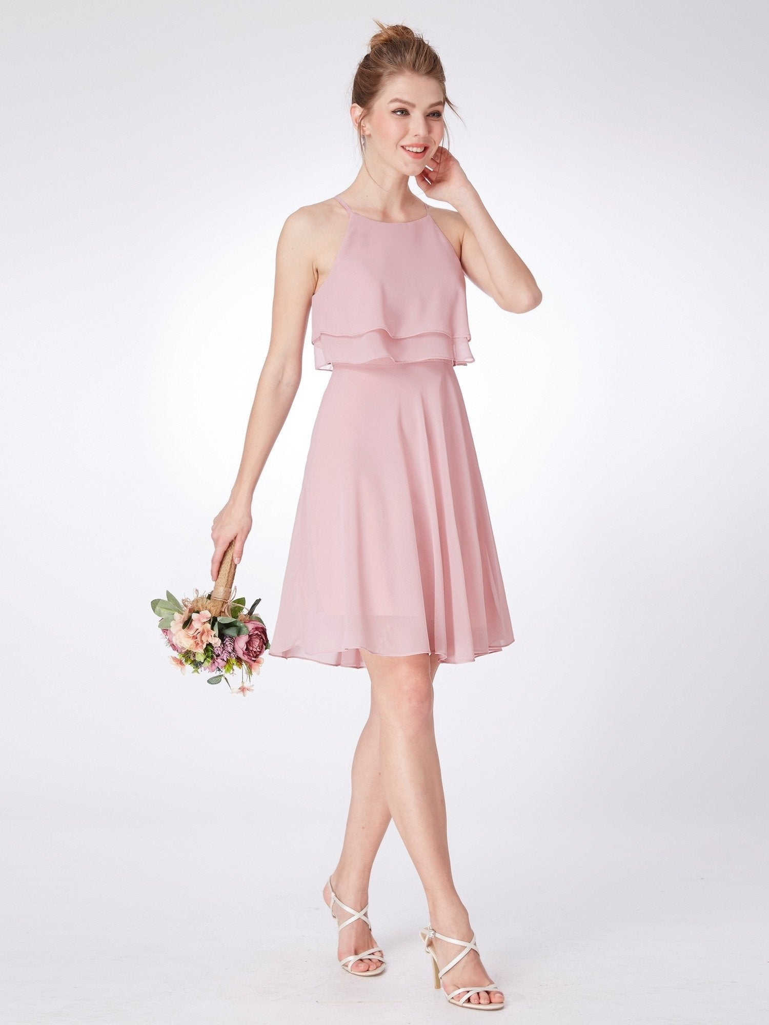 pink bridesmaid dress 4