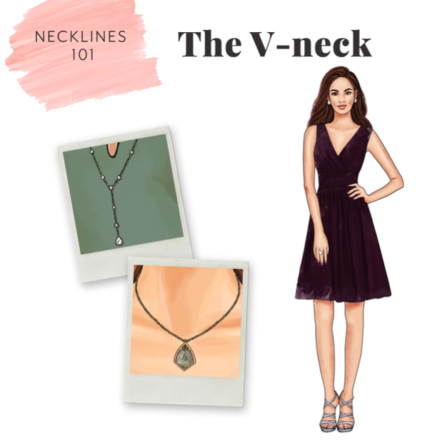 accessorizing v-neck dresses