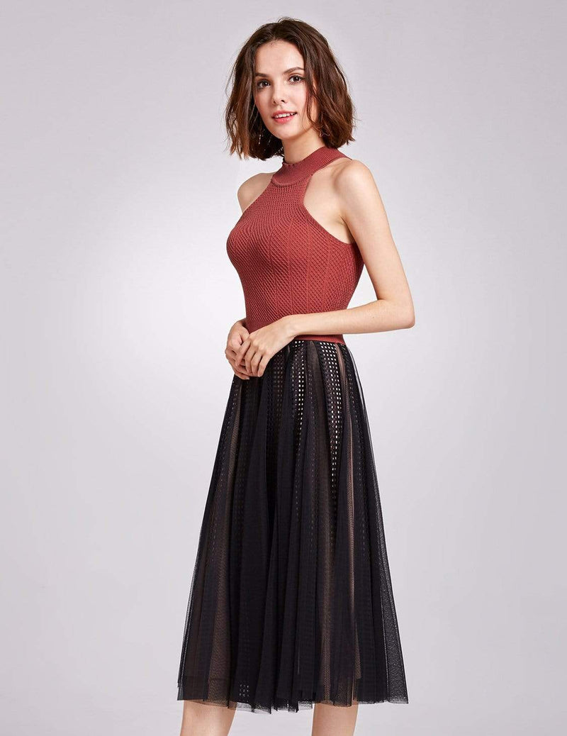 Alisa Pan High Waisted Midi Skirt-Black 3