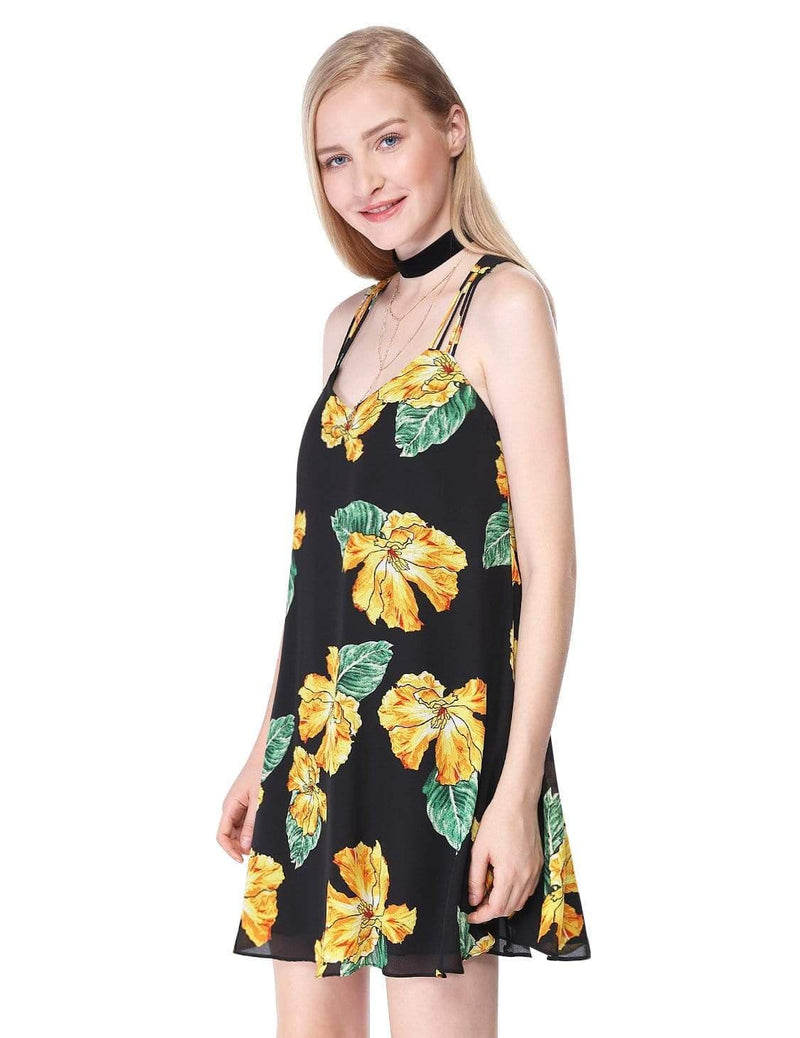 Alisa Pan Flowy Floral Summer Dress-Black 4