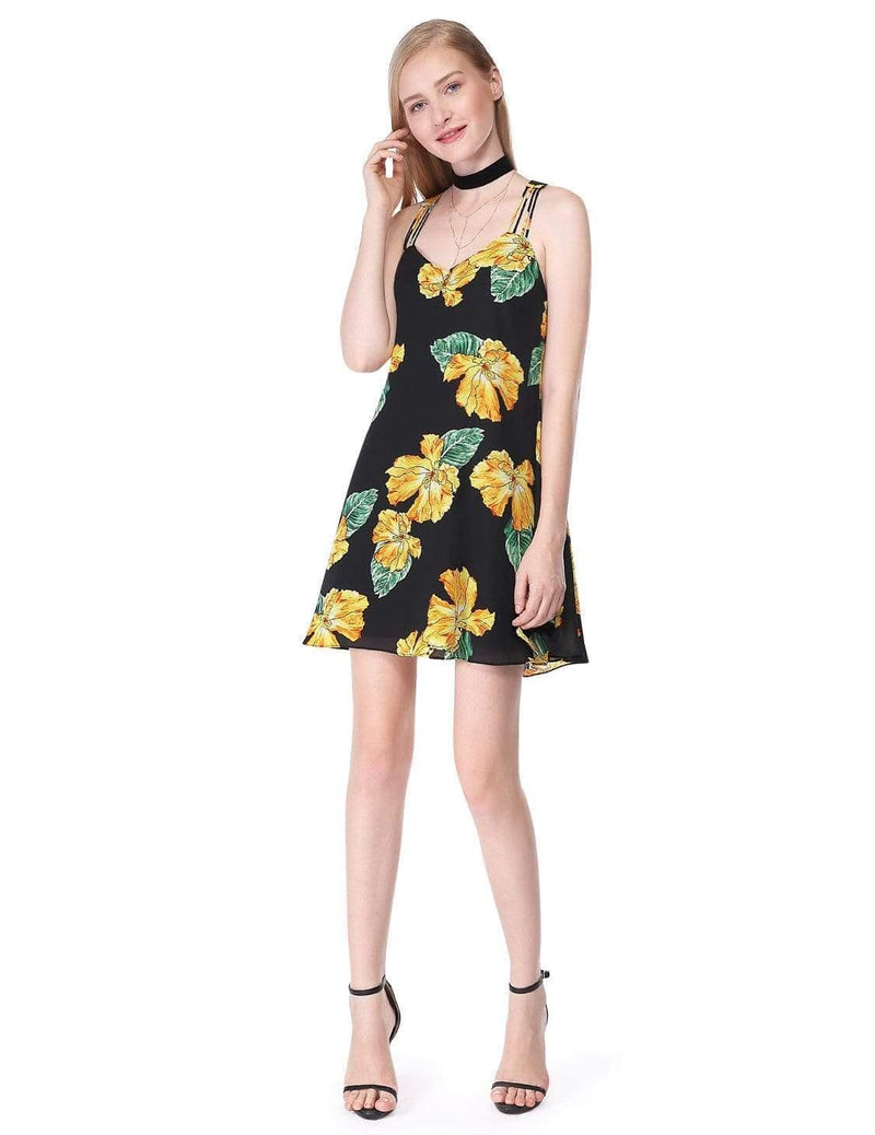 Alisa Pan Flowy Floral Summer Dress-Black 5