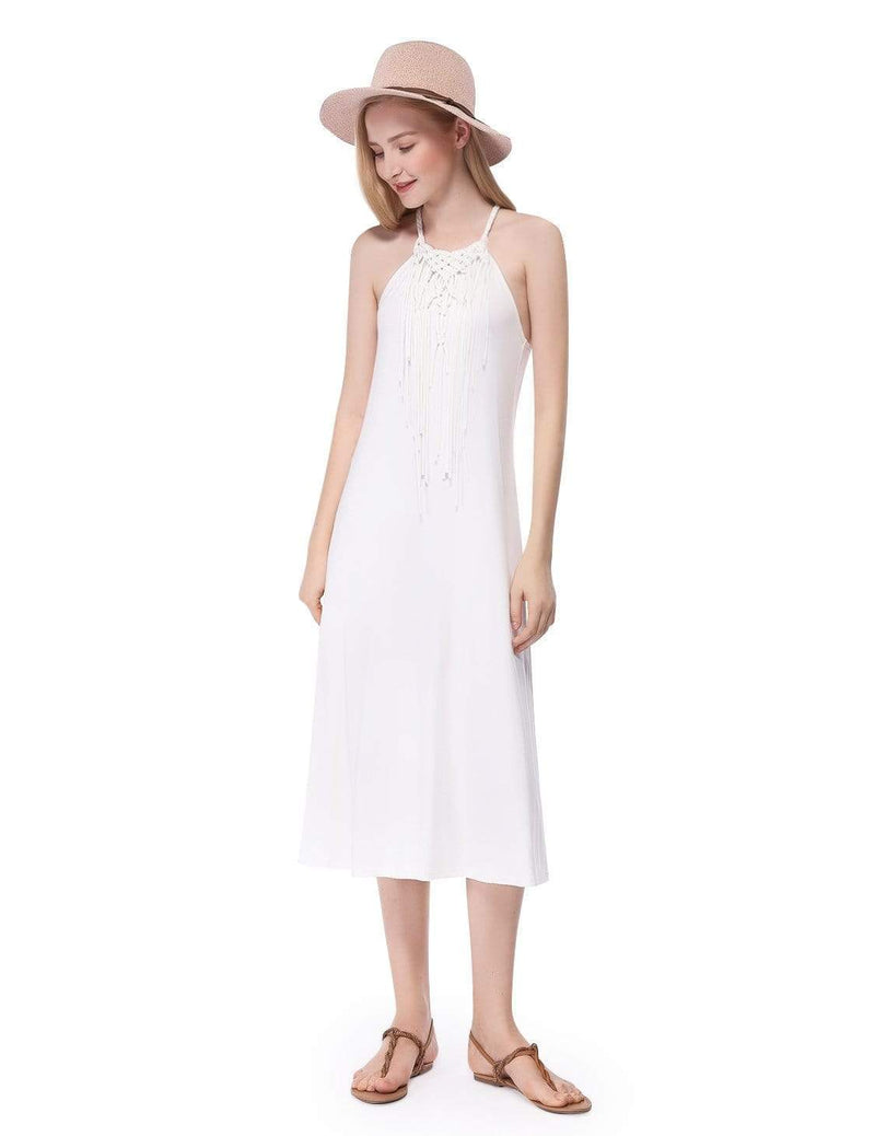 Alisa Pan Boho Midi Summer Dress-Cream 4