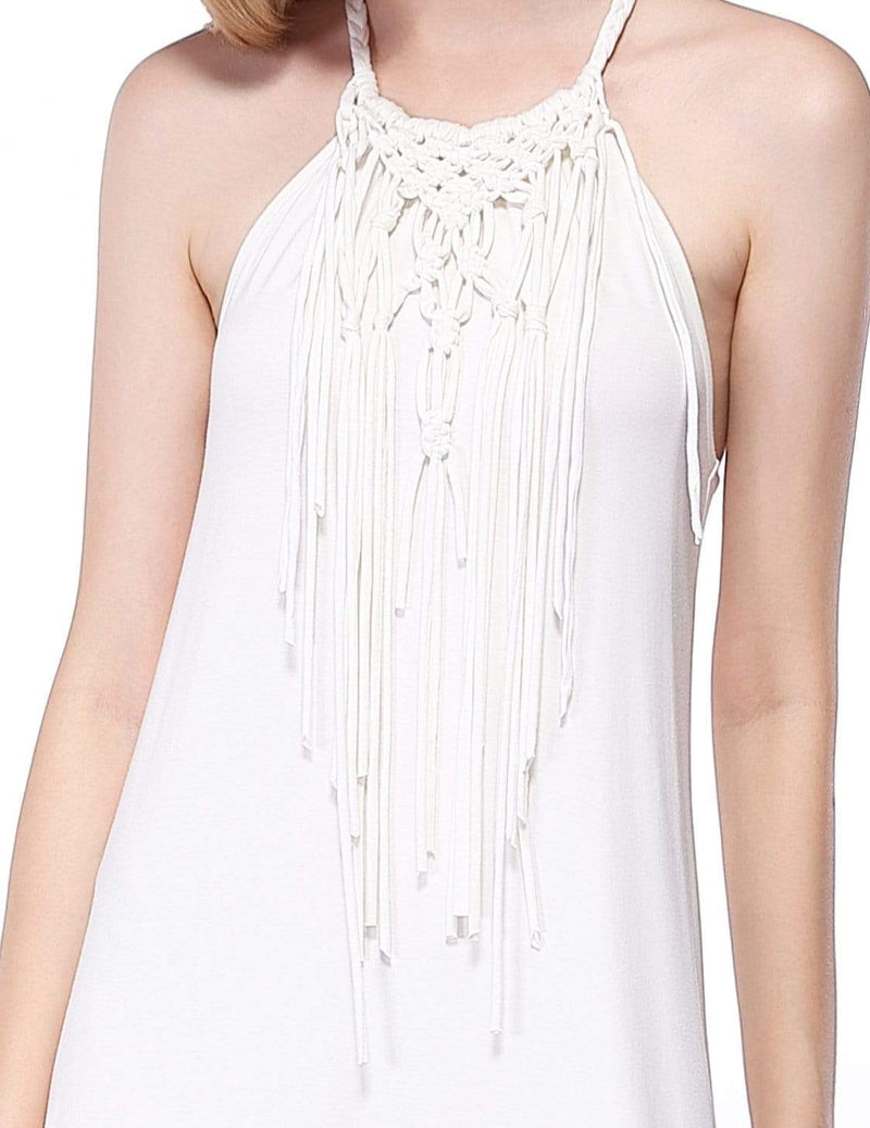 Alisa Pan Boho Midi Summer Dress-Cream 6