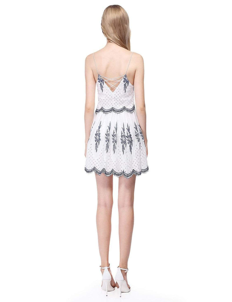 Alisa Pan Sleeveless Embroidered Boho Summer Dress-Cream 3