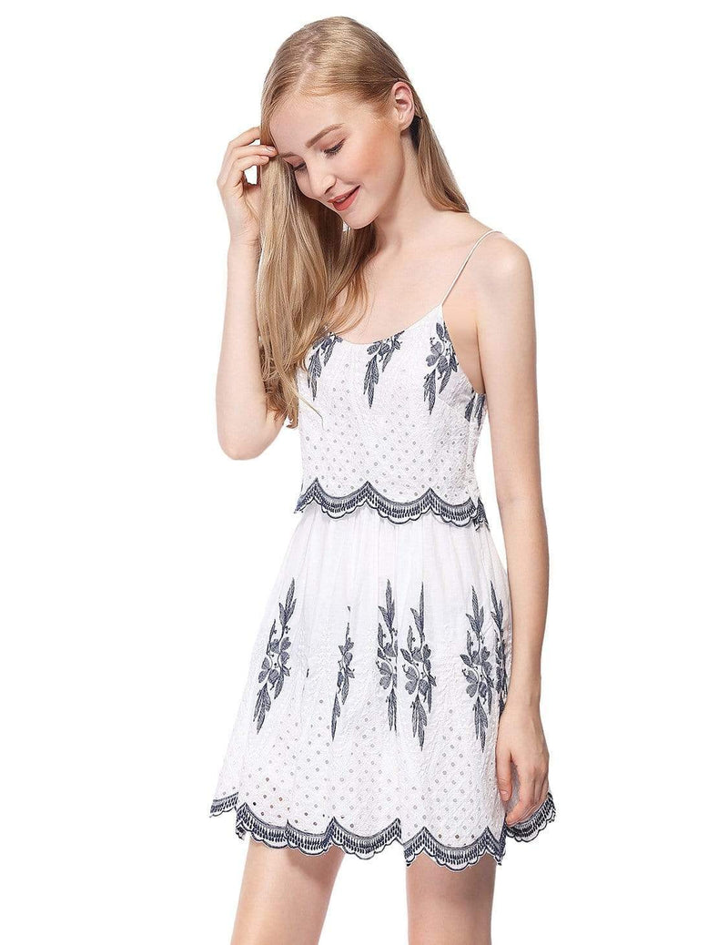 Alisa Pan Sleeveless Embroidered Boho Summer Dress-Cream 4