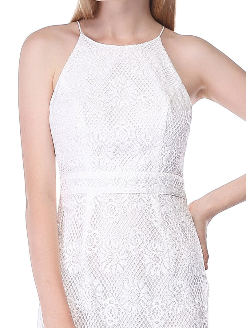 Alisa Pan Sleeveless Lace Midi Dress-Cream 3