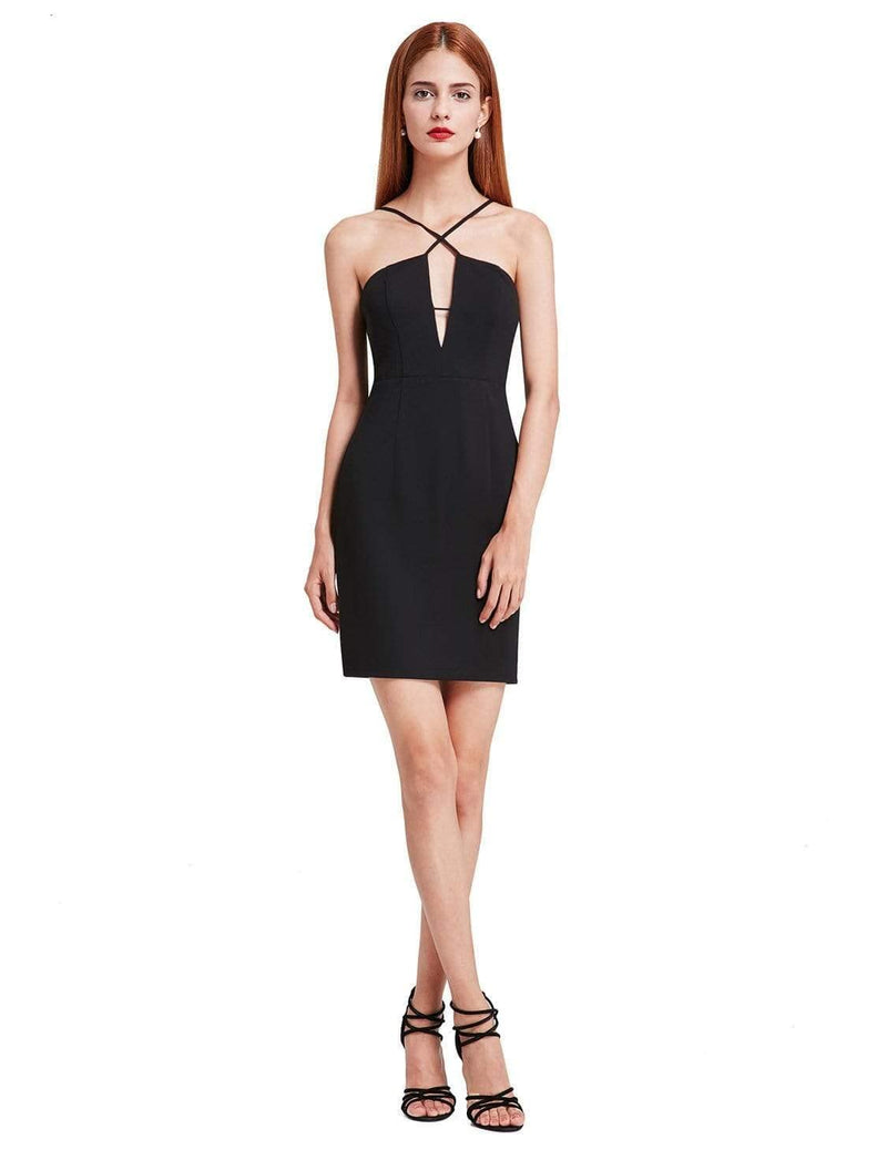Alisa Pan Sexy Fitted Little Black Dress-Black 1