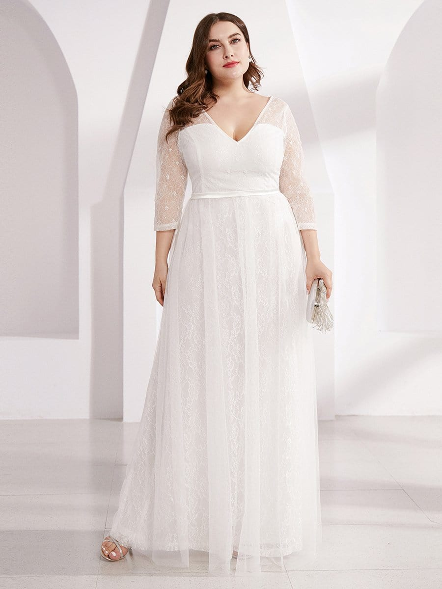 Wedding Guest Dresses For Women Plus Size 3 4 Sleeve Floor Length Ever Pretty Us,Marriage Reception Kerala Wedding Reception Dress For Bride And Groom