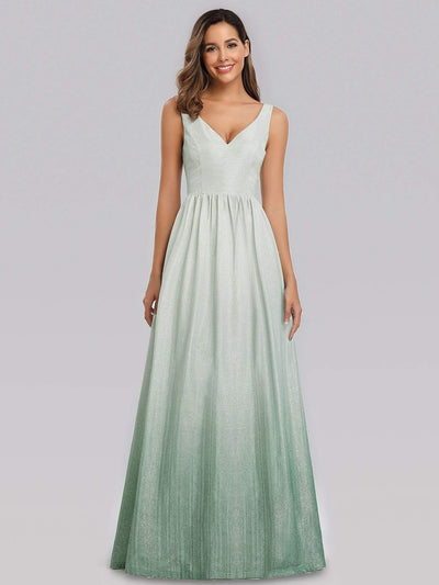 Women's Sweetheart Neckline Floor Length Evening Dress