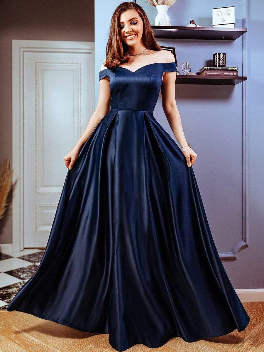 Ever-Pretty US Women Formal Cocktail Party Prom Gowns Cold Shoulder Dress 05884