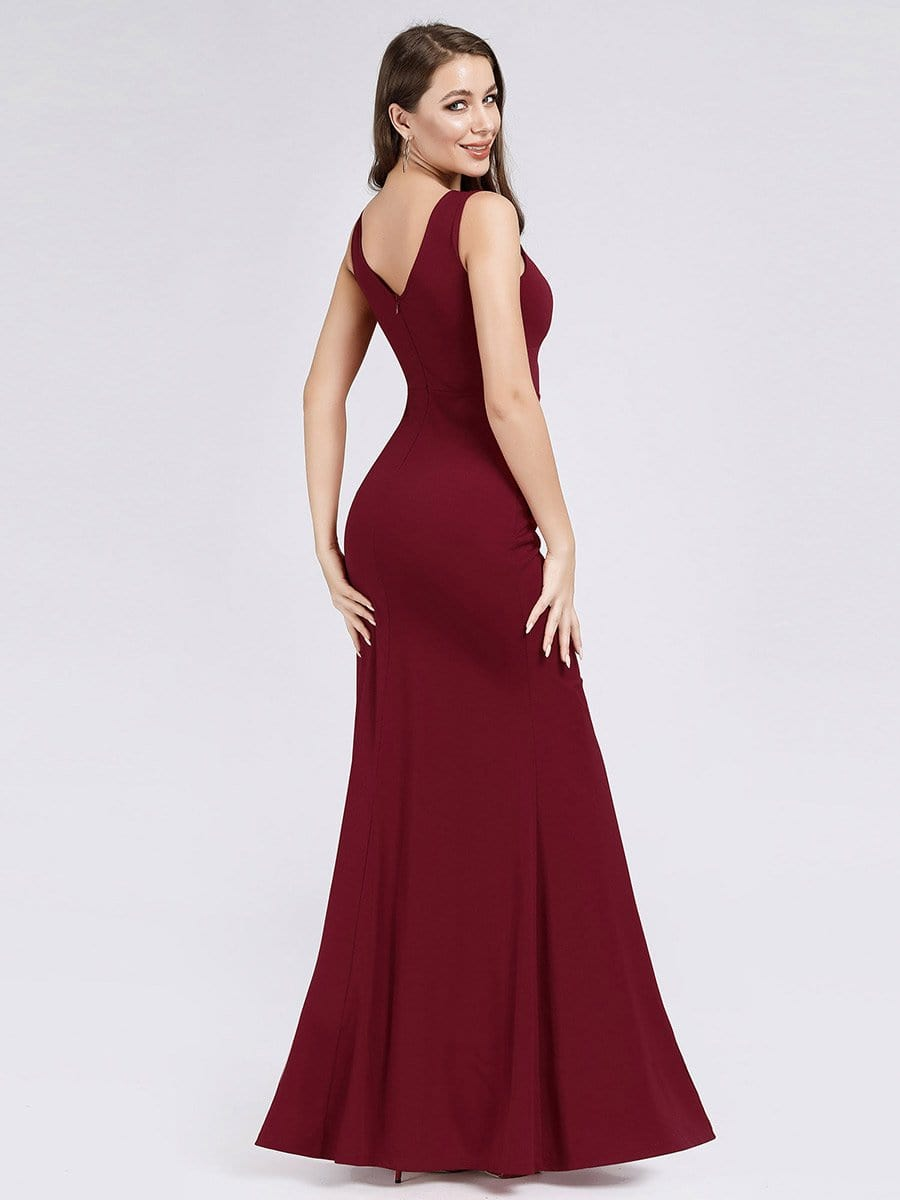 Ever-Pretty US V-neck Long Mesh Bridesmaid Dress A-Line Wedding Party Prom Gowns