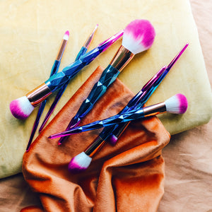 7 piece rainbow brush set