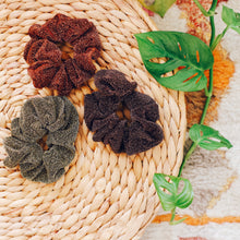 Load image into Gallery viewer, 'Amber' glittery scrunchies - 3 colors available
