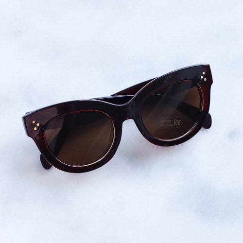 'Oh you fancy' classic brown sunglasses