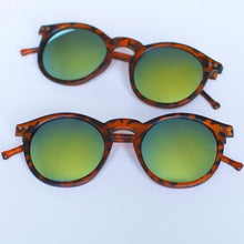 Load image into Gallery viewer, 'Shades of Cool' leopard brown sunglasses with mirrored glasses