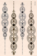 Load image into Gallery viewer, Chain gold, silver and black flash tattoos
