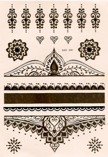 Regal gold and black flash tattoos