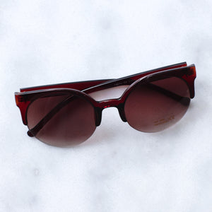 'Feelin' myself' brown round shape sunglasses